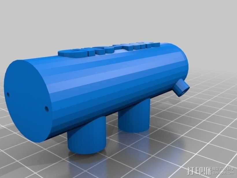 单只 朋克风护目镜 3D模型  图2