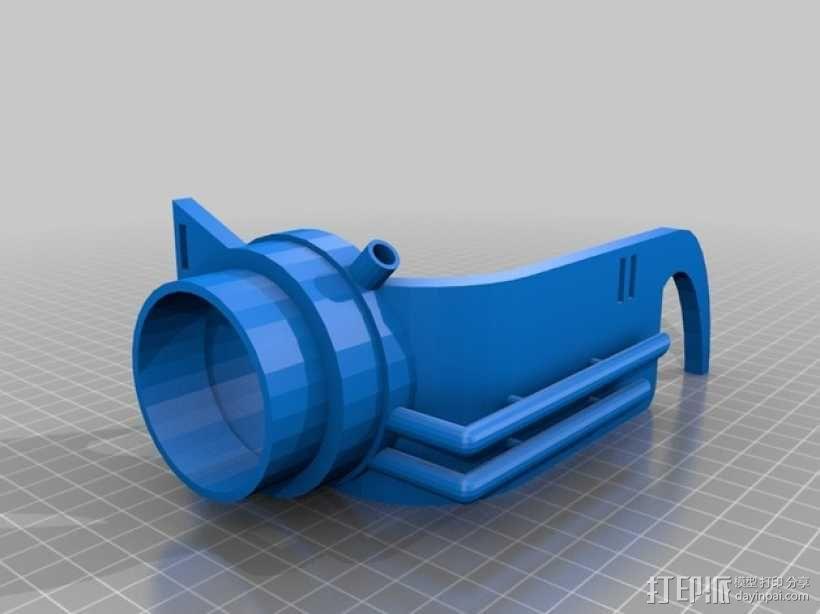 单只 朋克风护目镜 3D模型  图3