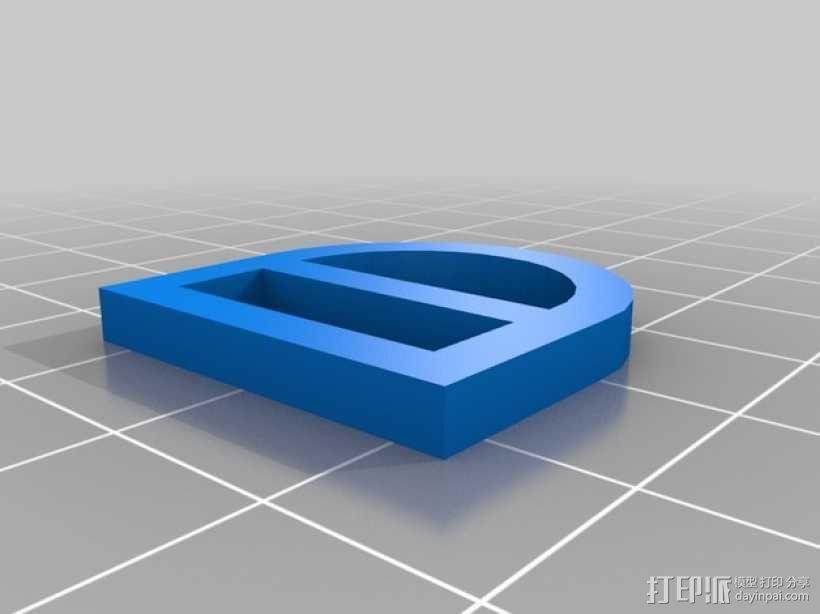 单只 朋克风护目镜 3D模型  图6
