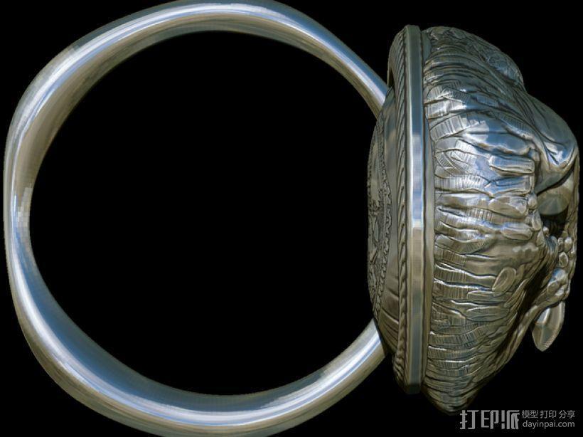 猫头鹰 戒指 3D模型  图4