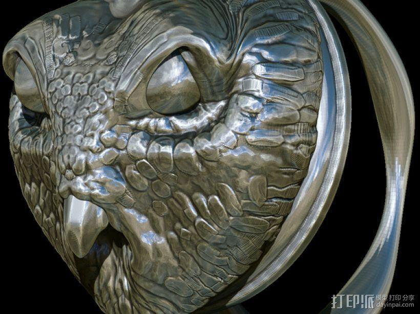 猫头鹰 戒指 3D模型  图5