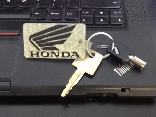 本田汽车标志 钥匙坠 3D模型  图1