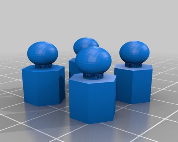 六面体链式吊坠 3D模型  图4