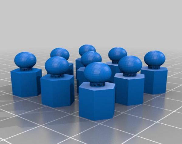 六面体链式吊坠 3D模型  图5