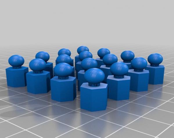 六面体链式吊坠 3D模型  图6