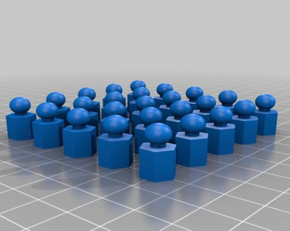 六面体链式吊坠 3D模型  图7