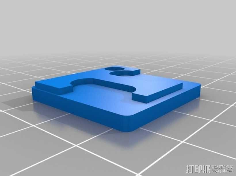 T字 吊坠 3D模型  图2