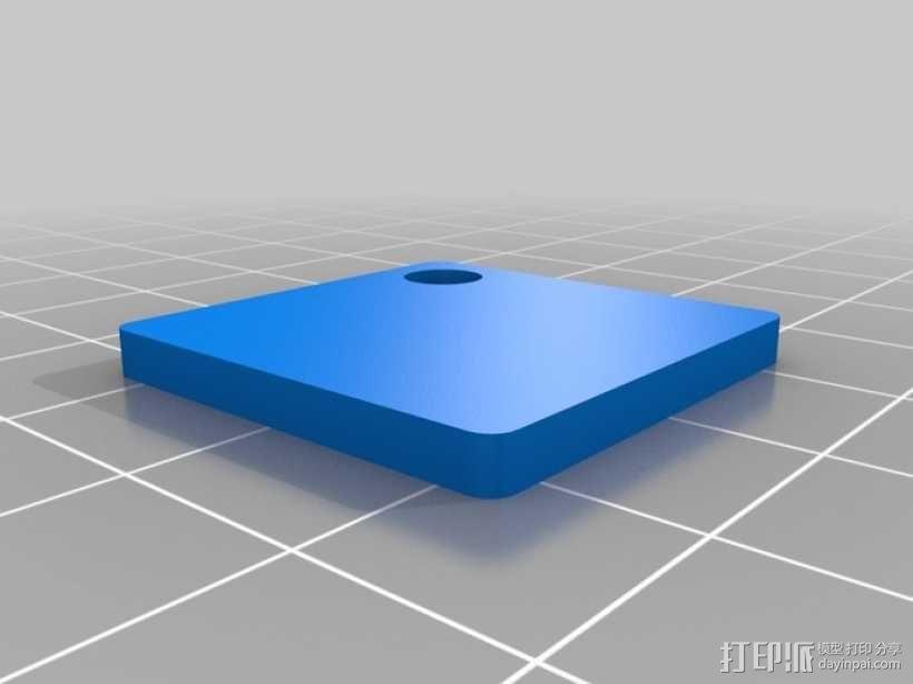 T字 吊坠 3D模型  图3