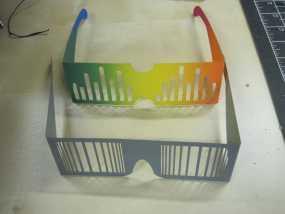 百叶窗 眼镜 3D模型