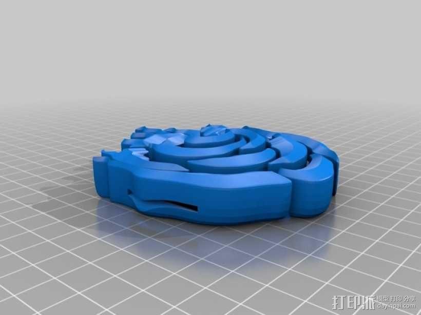 玫瑰 皮带扣 3D模型  图1