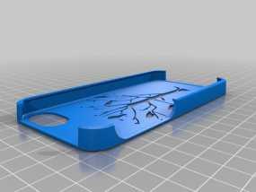 森林鸟 iPhone 5 手机套 3D模型
