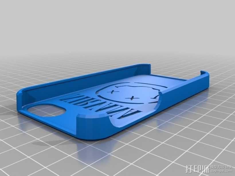 Nirvana乐队标志 iPhone 4S手机套 3D模型  图1