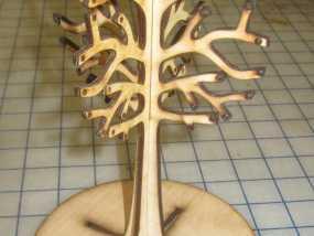 桦树首饰架  3D模型