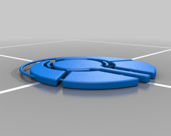 回收标志 吊坠 3D模型  图2