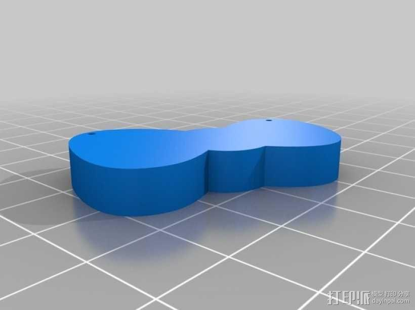 Hello Kitty蝴蝶结吊坠 3D模型  图3