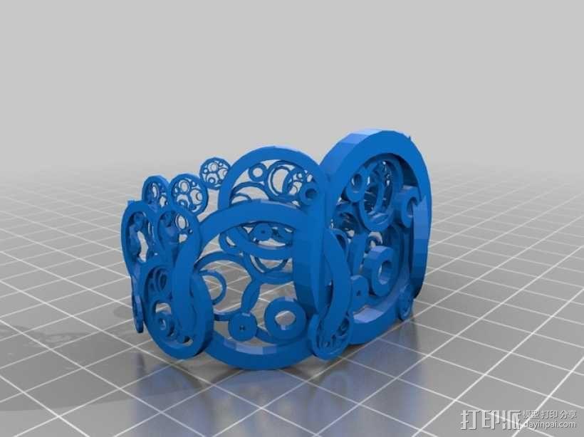 圆环 手镯 3D模型  图1