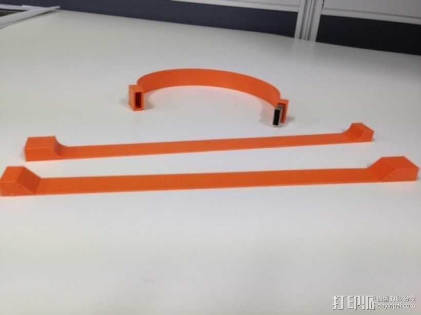 USB 手链 3D模型  图1