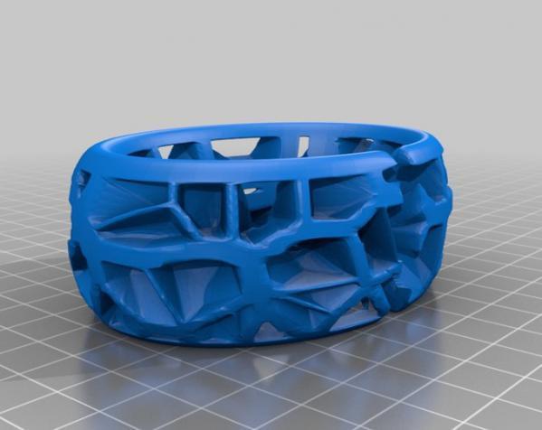 泰森多边形手镯 3D模型  图2