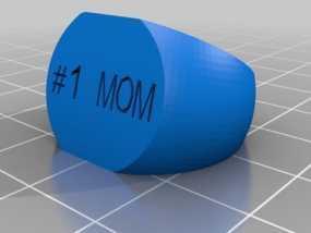 #1 MOM戒指 3D模型