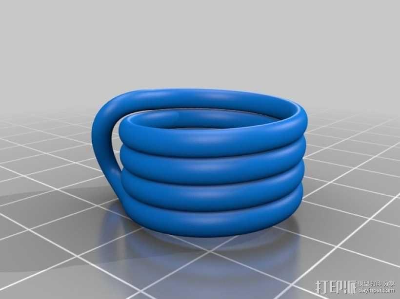 线圈戒指 3D模型  图2