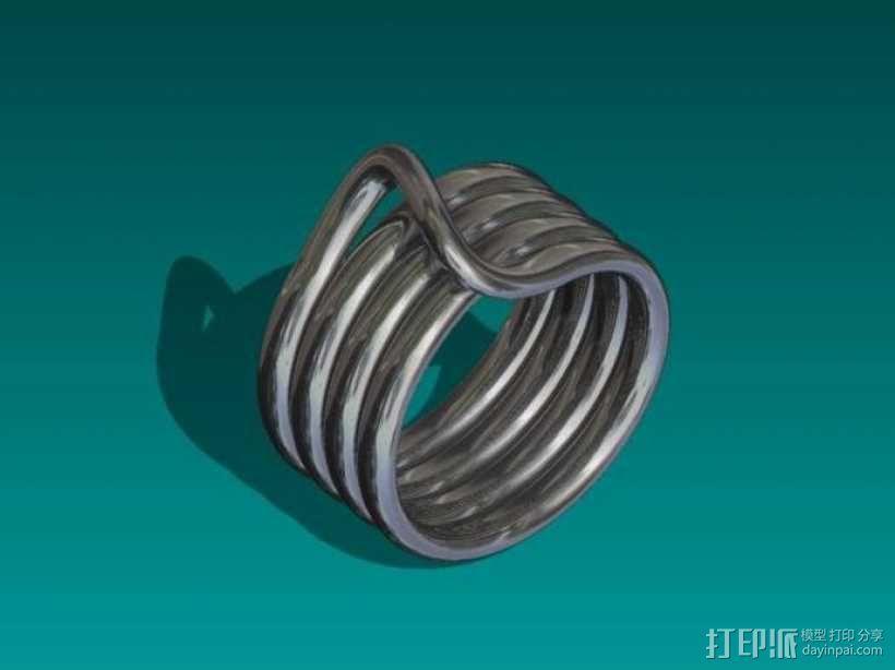 线圈戒指 3D模型  图1