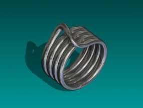 线圈戒指 3D模型