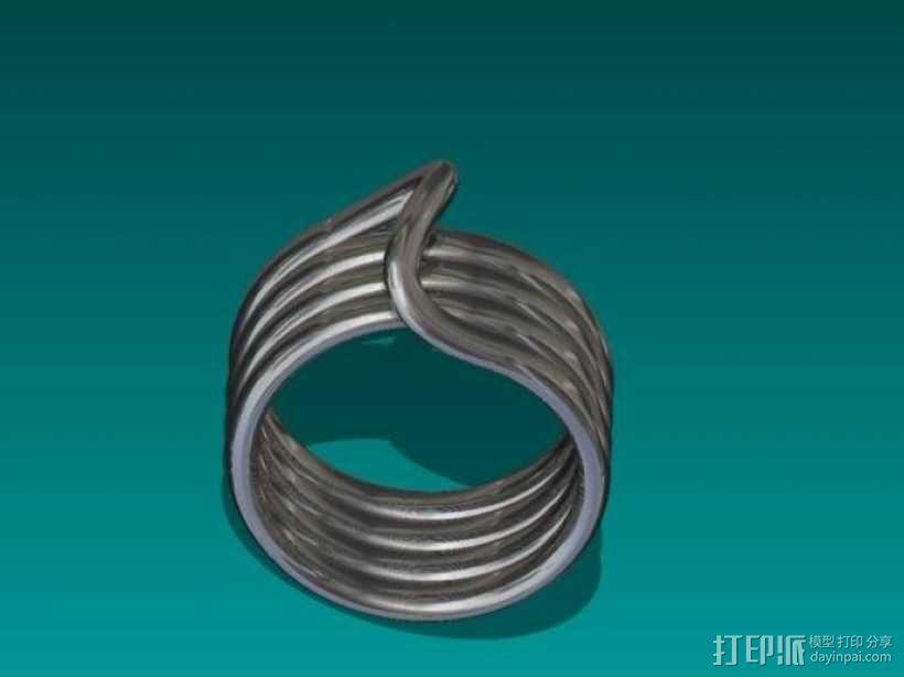 线圈戒指 3D模型  图3