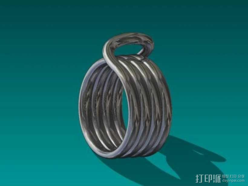 线圈戒指 3D模型  图4
