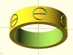 Cartier卡蒂亚戒指 3D模型