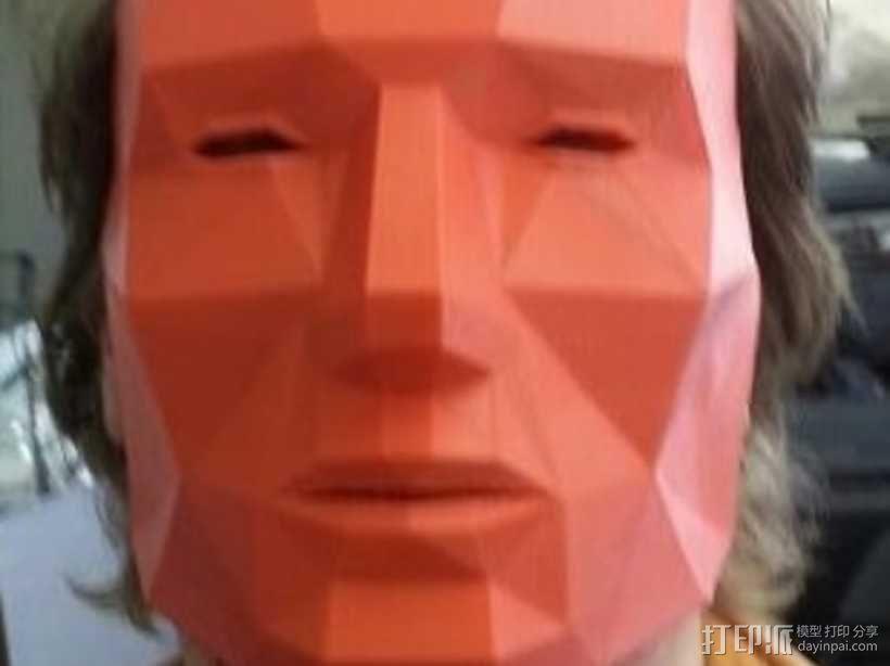低面数 面具 3D模型  图1