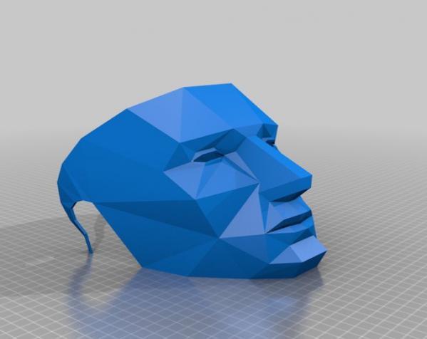 低面数 面具 3D模型  图2