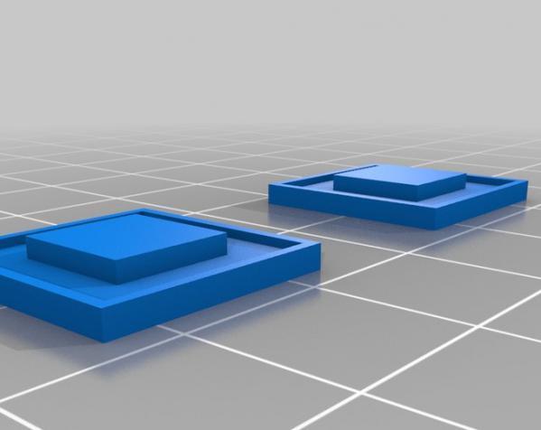 LED 电话亭时光机 耳坠 3D模型  图2