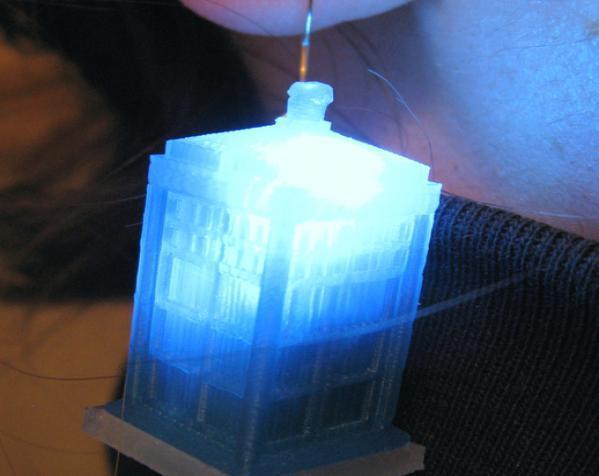 LED 电话亭时光机 耳坠 3D模型  图7