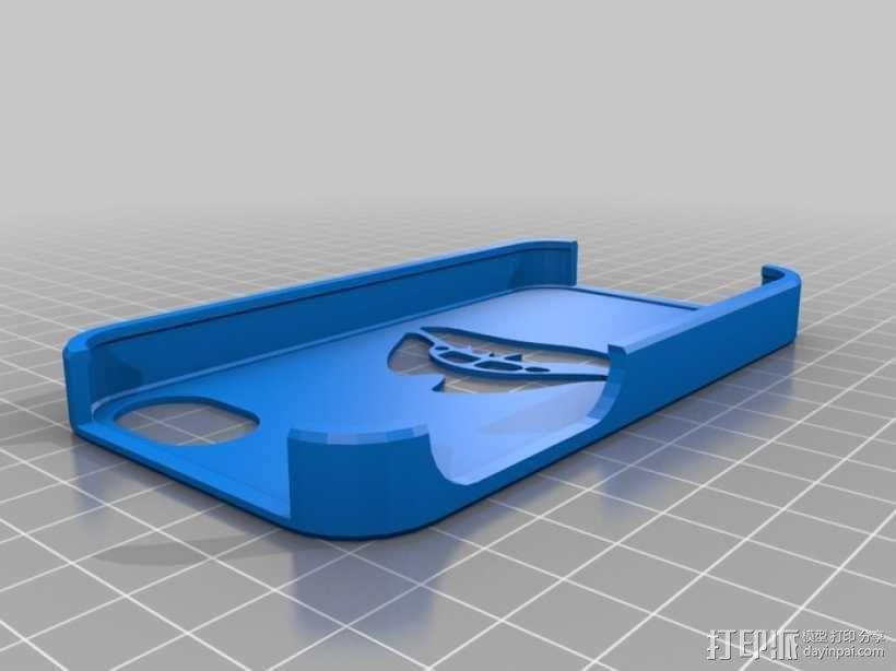 红唇Iphone 4S 手机套 3D模型  图1