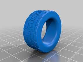 轮胎形 戒指 3D模型
