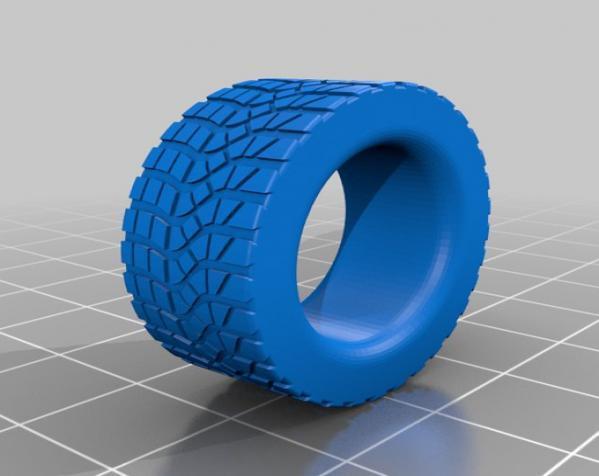 轮胎形 戒指 3D模型  图2
