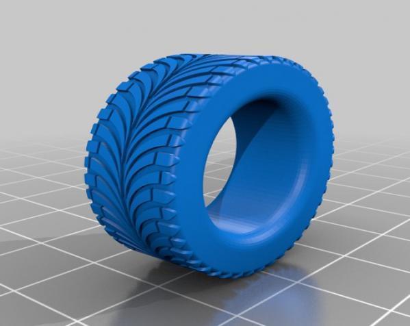 轮胎形 戒指 3D模型  图3