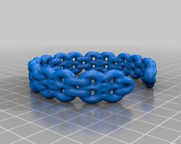 环形开口 手镯 3D模型  图2