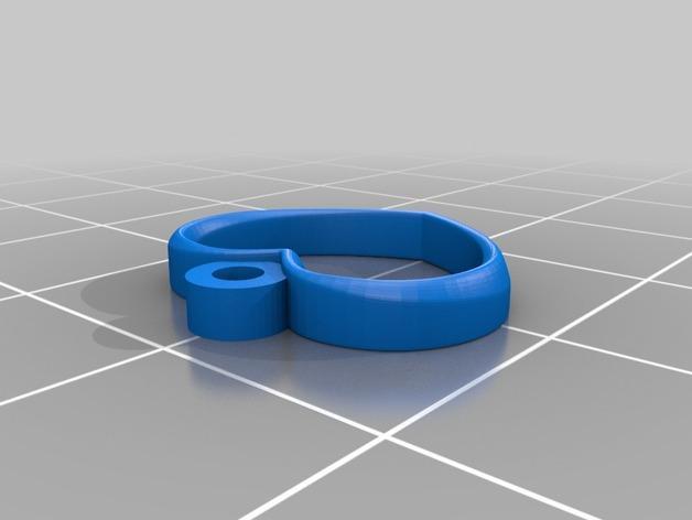 心形耳坠 3D模型  图1