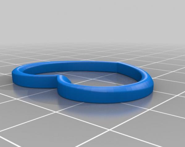 心形耳坠 3D模型  图2