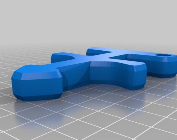 ThugBasher钥匙坠 3D模型  图3