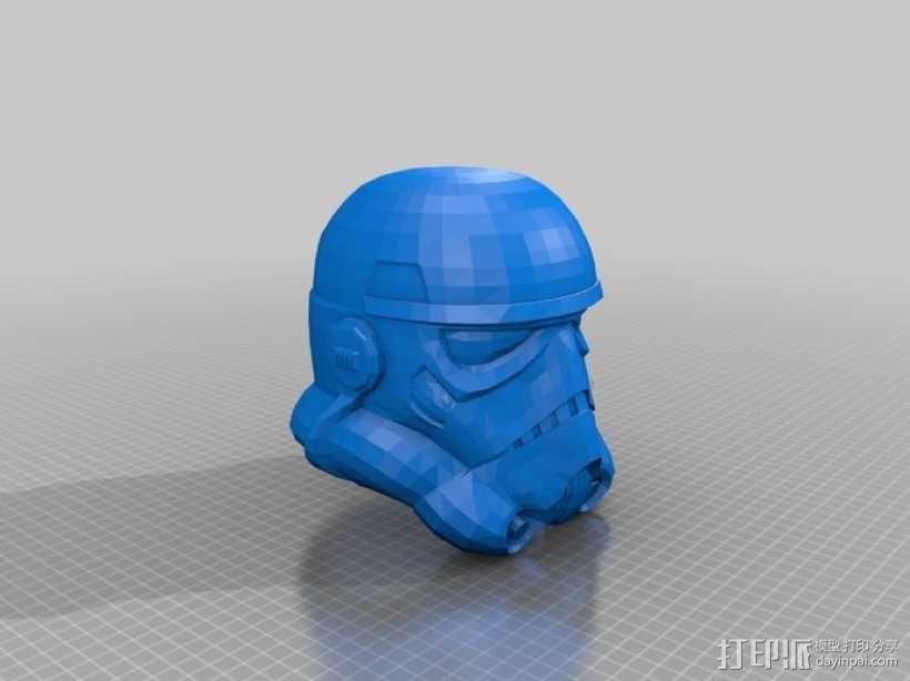 突击队员头盔 3D模型  图1