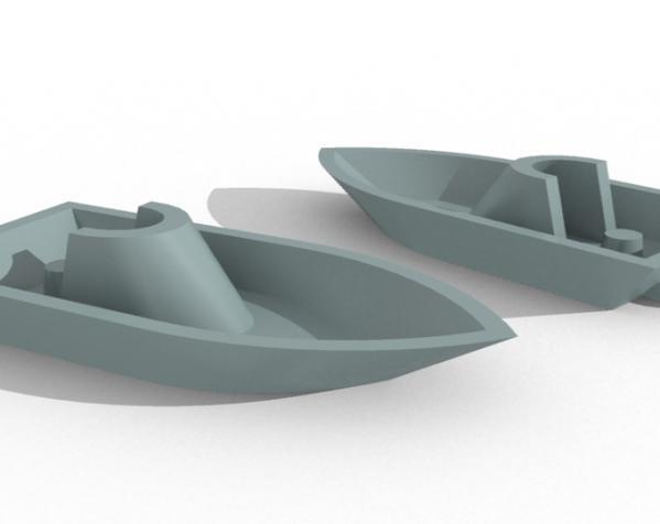 船形 钥匙坠 3D模型  图1