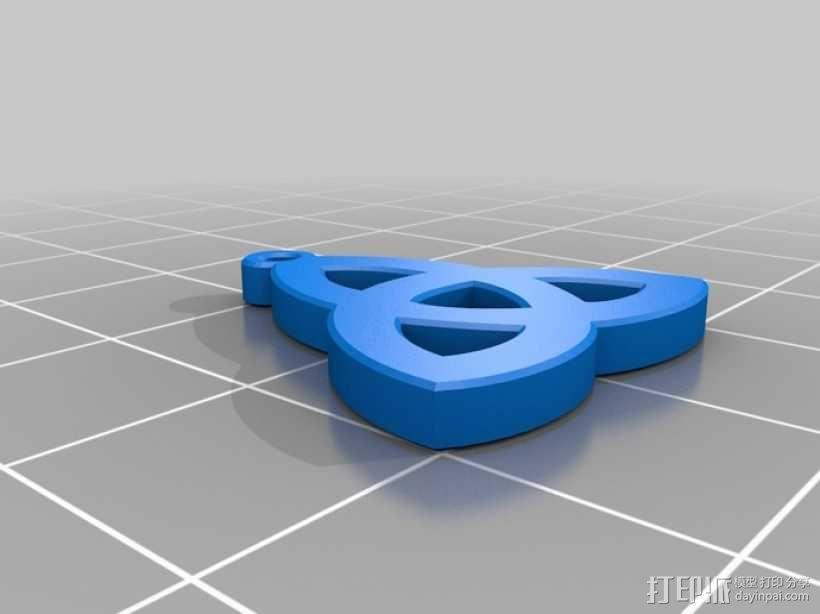 凯尔特三叶草 吊坠 3D模型  图1
