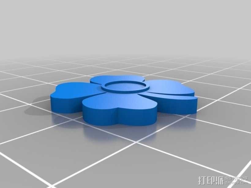 四叶草耳坠 3D模型  图2