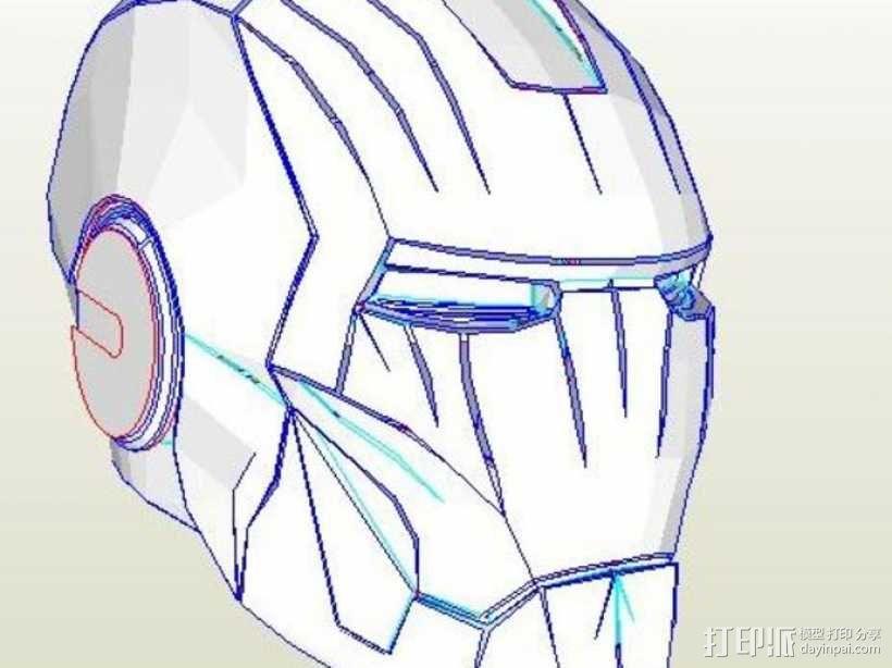 纸质钢铁侠头盔 3D模型  图1