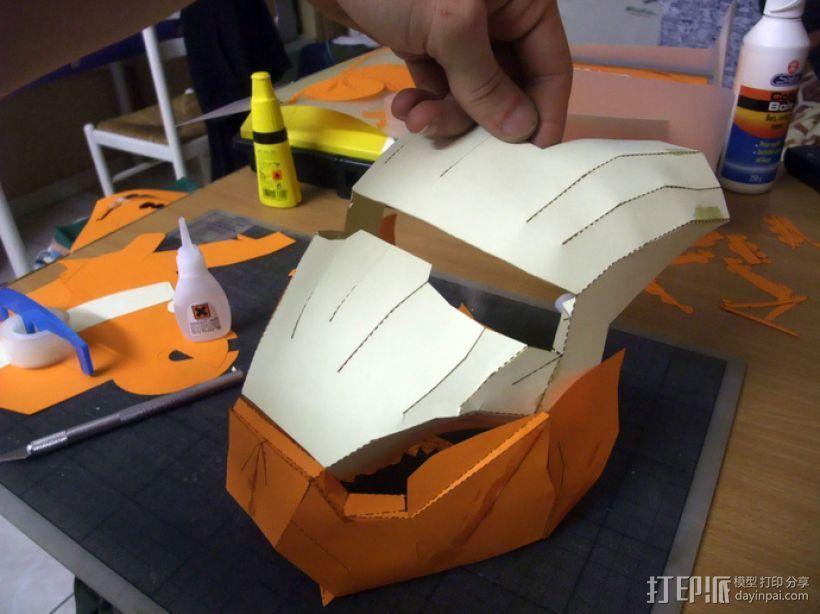 纸质钢铁侠头盔 3D模型  图3
