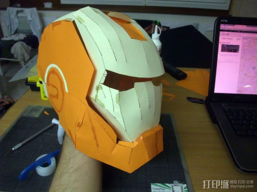 纸质钢铁侠头盔 3D模型  图4