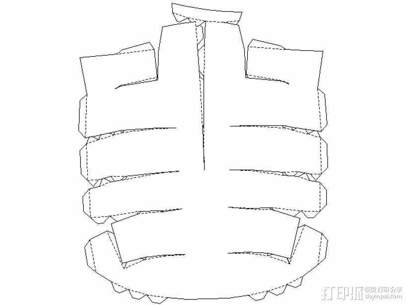 纸质钢铁侠头盔 3D模型  图8