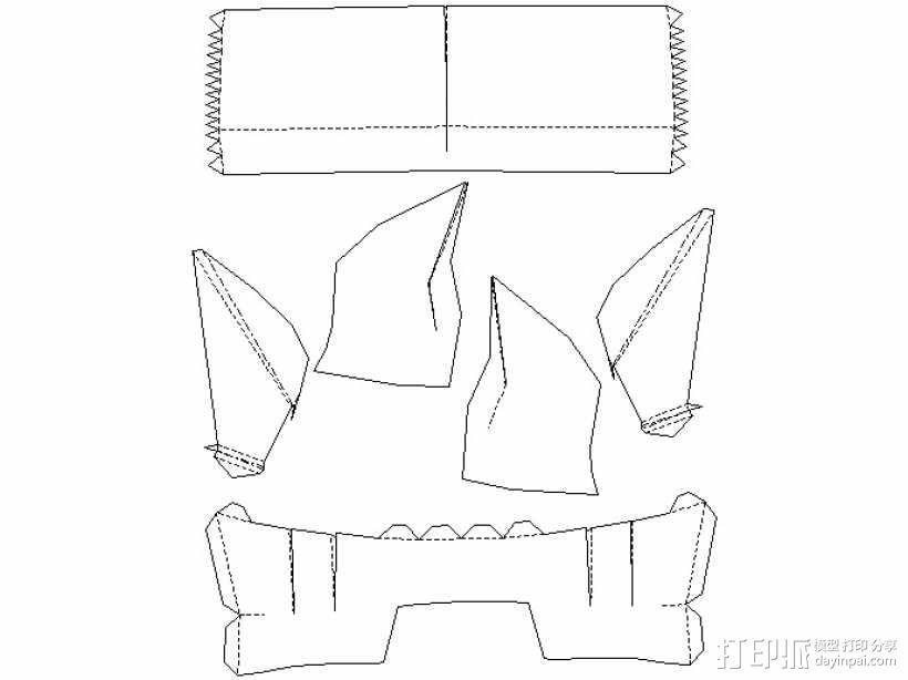 纸质钢铁侠头盔 3D模型  图12